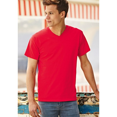 TEE-SHIRT VALUEWEIGHT V-NECK FRUIT OF THE LOOM
