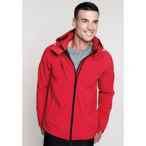 VESTE A CAPUCHE SOFTSHELL 3 COUCHES HOMME KARIBAN