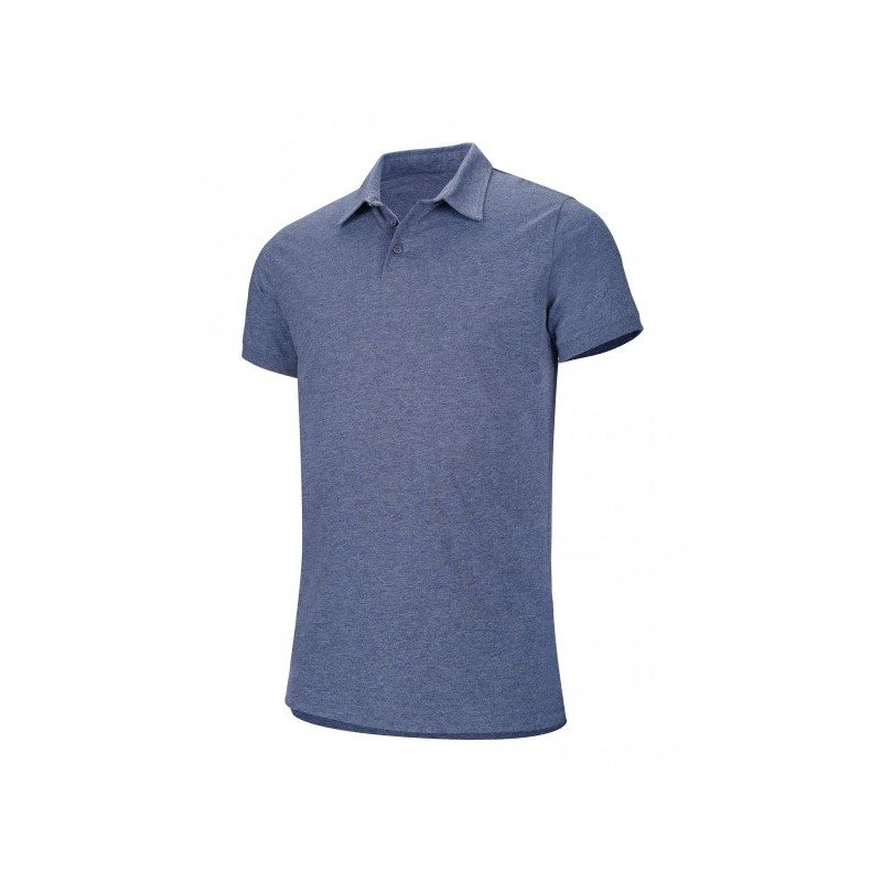 POLO MELANGE MANCHES COURTES HOMME KARIBAN BLUE HEATHER