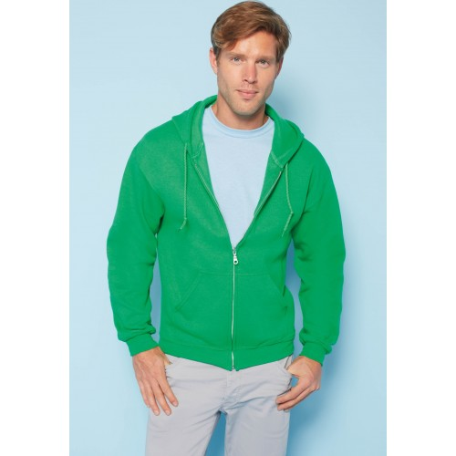 SWEAT-SHIRT ZIPPÉ CAPUCHE HOMME GILDAN : HEAVY BLEND