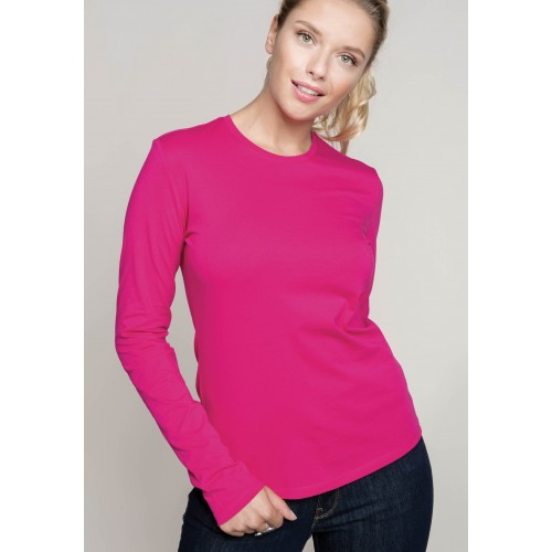 TEE-SHIRT COL ROND 100% COTON MANCHES LONGUES FEMME KARIBAN