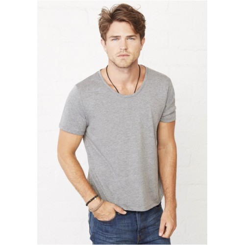 TEE-SHIRT ENCOLURE LARGE HOMME BELLA&CANVAS