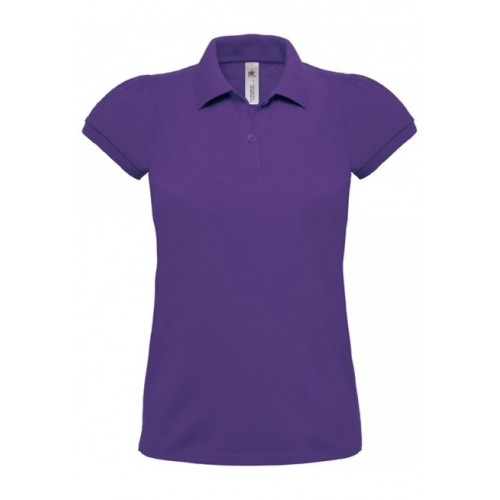 POLO HEAVYMILL FEMME B&C VIOLET