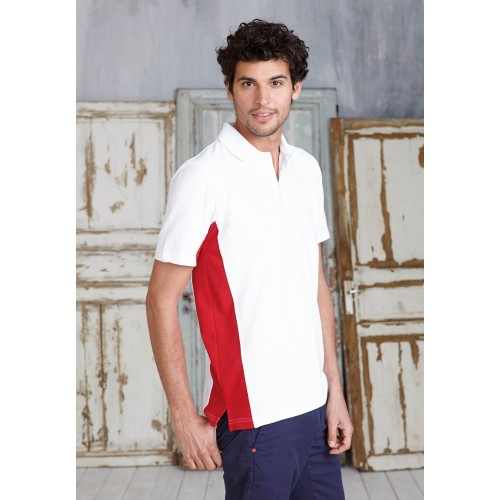 POLO BICOLORE MANCHES LONGUES HOMME KARIBAN