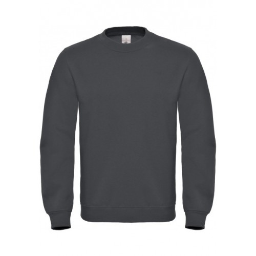 SWEAT-SHIRT COL ROND ID.002 HOMME B&C ANTHRACITE