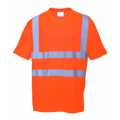 T.SHIRT ORANGE FLUO HAUTE VISIBILITE PORTWEST : RT23